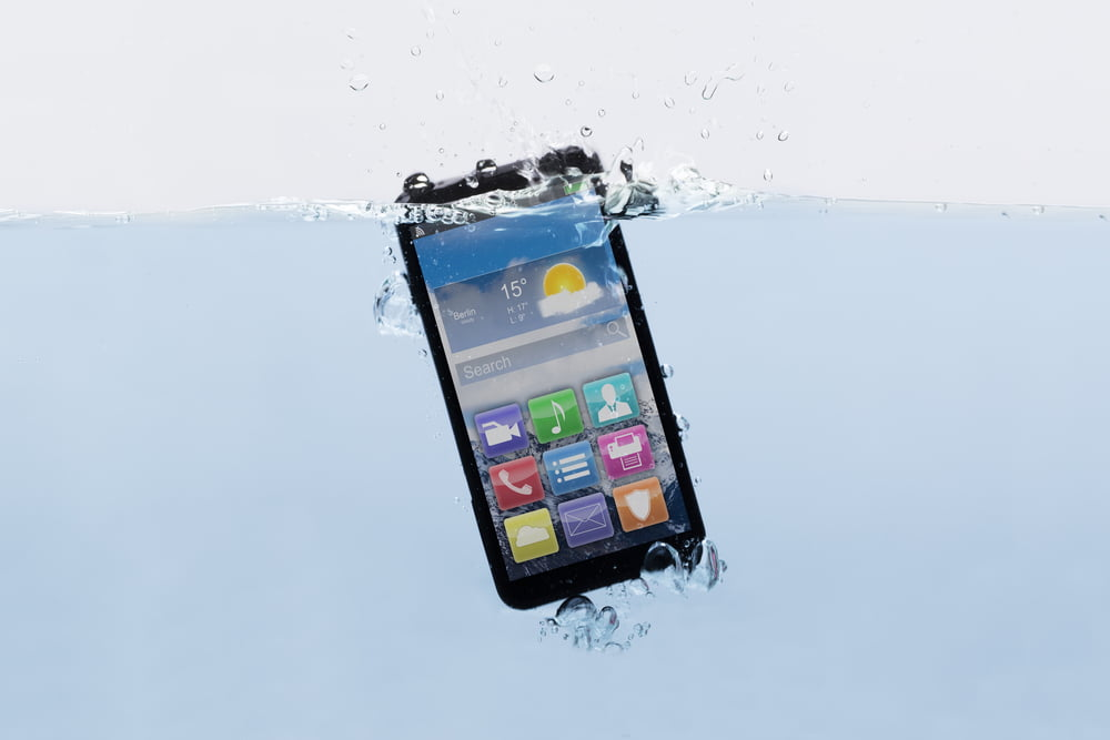 If your smartphone gets water damage, take these steps